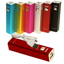2600mAh Portable Power Bank Battery Charger For Mobile iPhon
