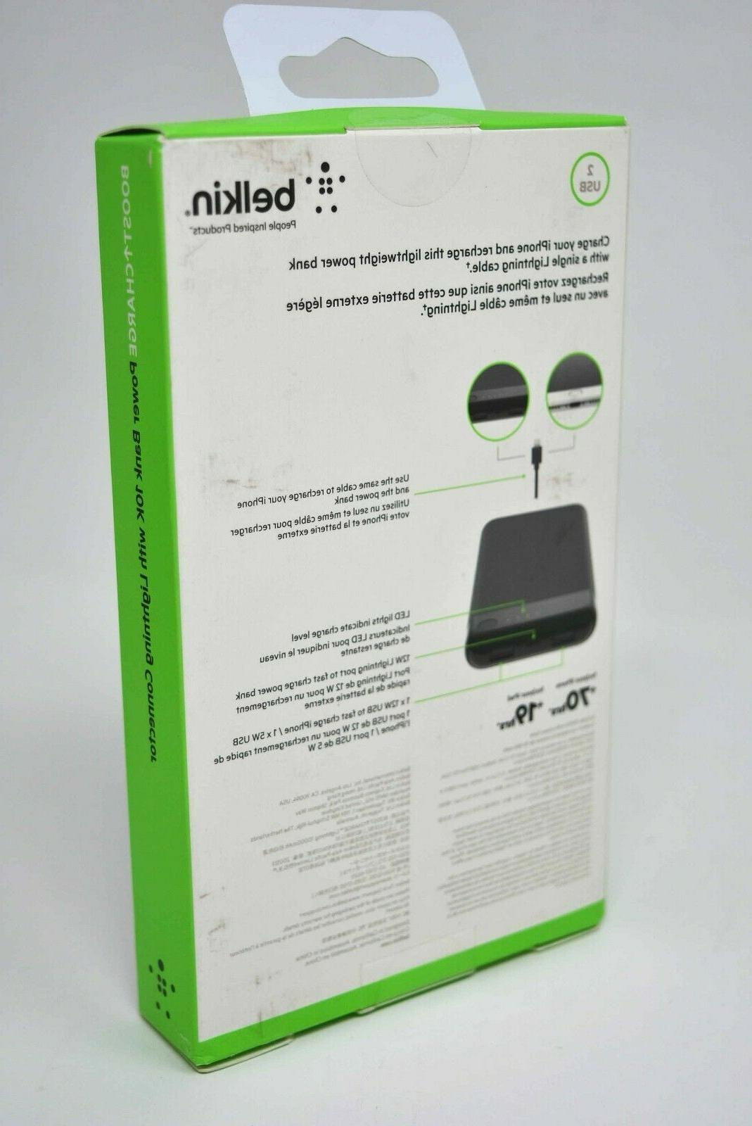 Belkin Boost Power Bank Battery 10000mAh Lightning for iPhones