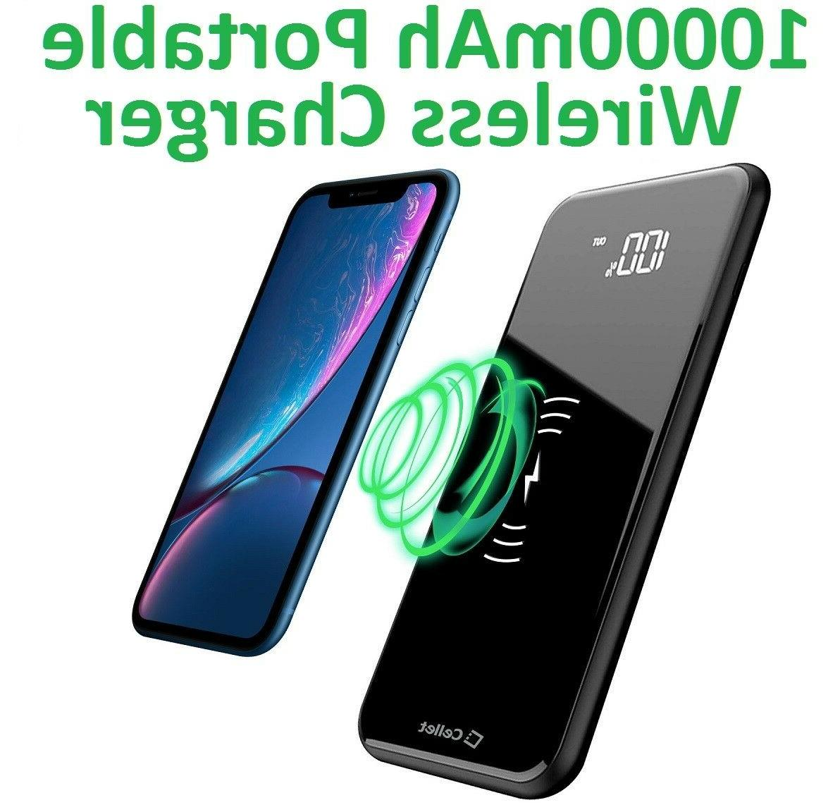 Cellet Wireless Charger Bank 2 USB + Port
