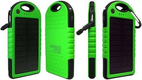 portable shockproof waterproof solar power bank charger
