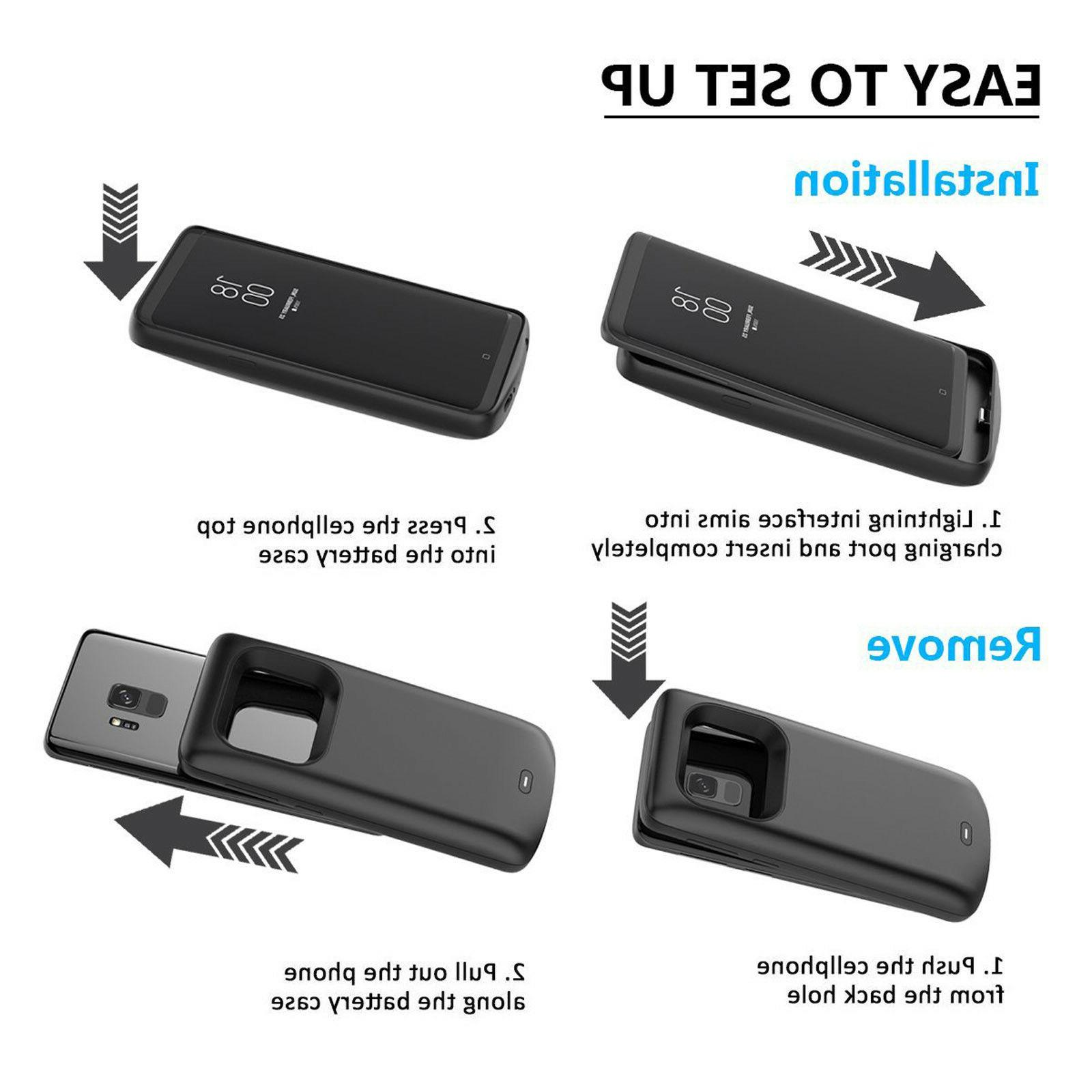 Shockproof Battery Charging Case Portable Bank for Samsung S9