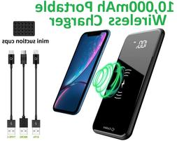 portable 10 000mah wireless charger power bank