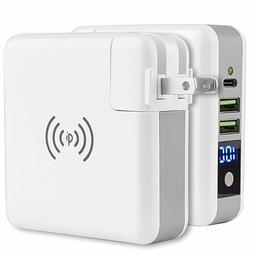 Portable Wireless Charging Power Bank Quick Fast Charger USB